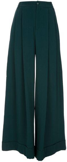Semi-couture | Green Palazzo Pant