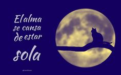 """El #Alma se cansa de estar #Sola"". @candidman #Frases #Reflexion #Soledad #Desamor #Candidman"