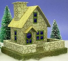 Going to adapt this for a haunted house/village!   Building a Stone Cottage - A Howard's How-To, from Littleglitterhouses.com