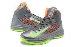 outlet store 34ff1 c94d4 Nike Lunar Hyperdunk X 2012 Basketball Shoes Sliver Green Orange