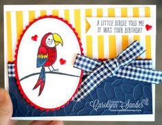 Care Bear Stamps | December Birthdays Blog Hop - Stampin' Up! Bird Banter | Stampin' Up!