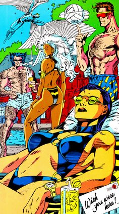comicbookvault:X ON THE BEACH 1991By Jim Lee & Scott Williams