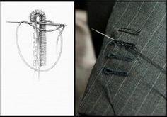 Bespoke butonhole by Tailleur Premium Paris Tie Clip, Couture, Detail, Tattoos, Accessories, Margarita, Sewing Ideas, Bespoke, Dressing