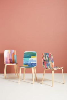 Anthropologie's New Spring Home Collection Is a Bold, Colorful, Eco-Conscious Work of Art: Tamsin Dining Chairs #anthropologie #home #homedecor #roomdecor