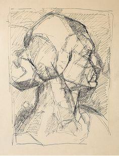 Alberto Giacometti (1901-1966), Portrait d'Ottilia Datevers, 1926-28. ink on paper