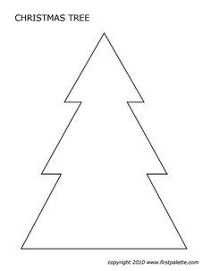 Free Printable Christmas Tree Templates | Ho Ho Ho Merry Christmas ...