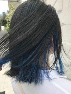 Hidden Hair Color, Hair Color For Black Hair, Cool Hair Color, Green Hair, Hair Color Streaks, Hair Dye Colors, Ombre Hair Color, Hair Highlights, Peekaboo Hair Colors