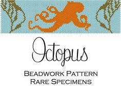Octopus and Kelp Silhouette Peyote Stitch by RareSpecimens on Etsy