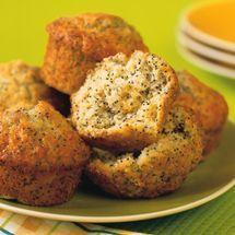 Crunchy Lemon Poppyseed Muffins