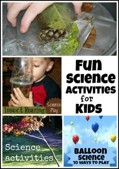 Lots of Fun Science Activities for Kids.  You have to follow a few links to get to the activities but there are many activities!