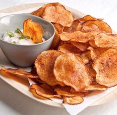 Smoked Paprika Potato Chips from Fine Cooking. http://punchfork.com/recipe/Smoked-Paprika-Potato-Chips-Fine-Cooking
