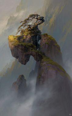 #shrine #floating #rocks