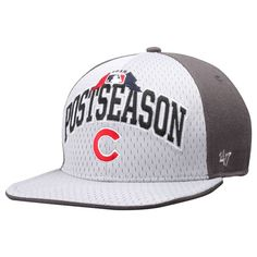 Chicago Cubs '47 2015 MLB Postseason Clincher Captain Hat - White/Gray