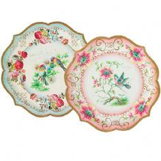 Floral Paper Serving Plates