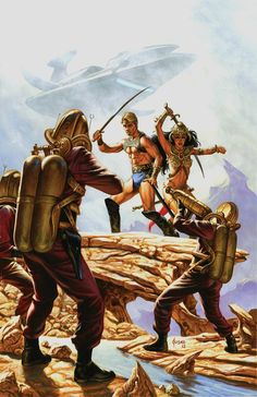 Comic Art For Sale from RomitaMan Original Art, Warriors Of Mars 5 Cover (Large Art) by Comic Artist(s) Joe Jusko