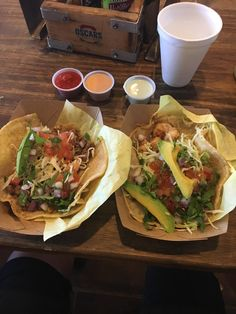 [I ate] Skirt Steak and Spicy Shrimp Tacos