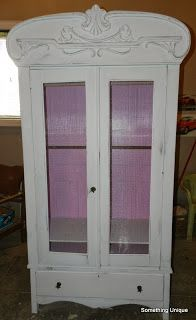 Painted antique wardrobe for a little girl