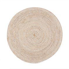 Teppich, runde Form, Ringel-Look Vorderansicht
