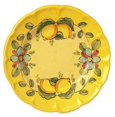 vietri.com | Hand-Painted Ceramics Vietri Dessert Plate Yellow