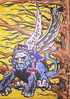 Flying Monkey from the Wizard of Oz ACEO by William Haderd by CuriosityCrate6 on Etsy https://www.etsy.com/listing/252714278/flying-monkey-from-the-wizard-of-oz-aceo