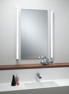 Bathroom Mirrors New Zealand imola illuminated bathroom mirror with pull cord switch, ip44