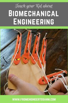 While doing this month's Tinker Crate, my son learns about biomechanical engineering and simple machines while building his very own mechanical hand!