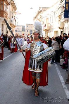 Roman soldier, Qormi Good Friday procession, Malta, 2011