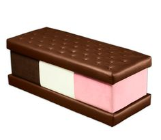 By the same folks who brought you the cheeseburger ottoman, I present ... ice cream sandwich ottoman
