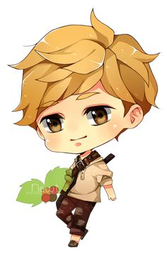 Newt chibi by misunderstoodpotato on DeviantArt