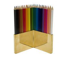 Brass Colored Pencil Set
