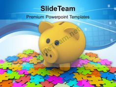 Puzzles And Piggy Bank Business Powerpoint Templates Ppt Themes And Graphics #PowerPoint #Templates #Themes #Background