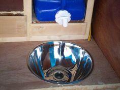 Water jug sink (includes how-to) Teardrop Camper Trailer, Tiny Camper, Build A Camper, Teardrop Camping, Trailer Build, Teardrop Camper Interior, Cargo Trailers, Camper Trailers, Horse Trailers