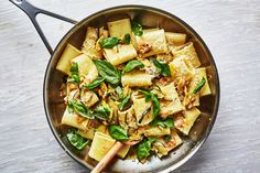 Sautéed squash eventually gets jammy and saucy if cooked long enough, ideal as a way to coat big pieces of pasta.