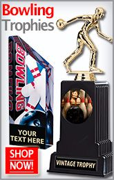 Bowling Trophies from Crown will have the Players getting just as Excited about the Award as they will about a Strike! http://www.crownawards.com/StoreFront/SBL.Bowling_Trophies_And_Awards.cat