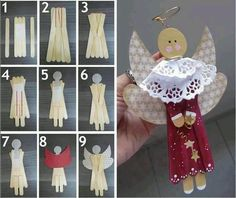 Popcicle stick Angel. Look what you are getting for Christmas!