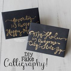 How to Fake Script Calligraphy! - All