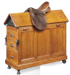 Late C19th Pitch Pine Saddle Horse, by Musgrave & Co Ltd 2