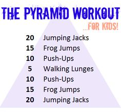 A fun workout for kids and families