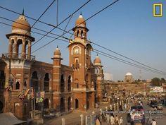 Relíquias do império britânico(relógio). Multan, Paquistão.