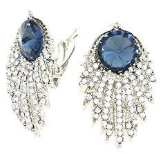Fancy Earrings Z4 Blue Clear Crystal Evening Bridal Clip On Silver Tone Recyclebabe Earrings http://www.amazon.com/dp/B014JK4YJE/ref=cm_sw_r_pi_dp_7G23vb0F1YV73