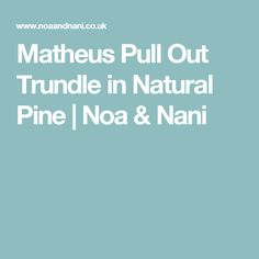 Matheus Pull Out Trundle in Natural Pine | Noa & Nani