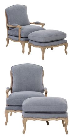 Treat yourself to a little something posh. Our Avery Chair and Ottoman ensemble is the definition of elegance, with its velvety upholstery and curved  frame. It's the perfect way to capture the vintage...  Find the Avery Chair and Ottoman in Stonewashed Blue, as seen in the A Rustic Cottage Collection at http://dotandbo.com/collections/a-rustic-cottage?utm_source=pinterest&utm_medium=organic&db_sku=128637