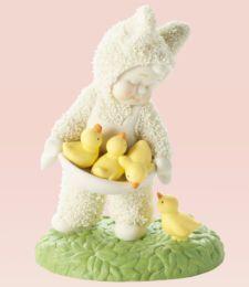 snow bunny figurines  | ... 56 SNOWBABIES Figurine EASTER BUNNY CHICKS Snow Baby Statue CHICKEN
