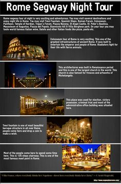 This Infographic talks about Rome segway night tour.