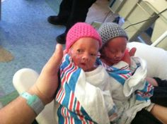 Crocheted by Dana, with love!   My niece and nephew (twins) were recently born 2 month premature.  Everyone is fine, but they will be in the...