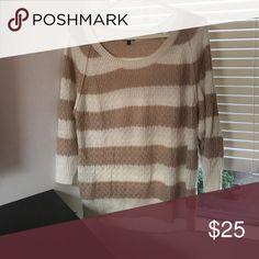 Splendid Striped Sweater Splendid chunky knit but light weight striped cotton sweater. Splendid Sweaters Crew & Scoop Necks