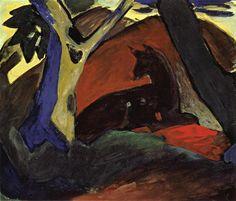 Ciervos tumbados, 1911 - Franz Marc