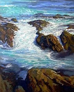 Monterey Sea by Robert MacPherson in the FASO Daily Art Show