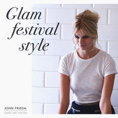 Festival style tip: Work volume into the crown of your hair & pile up into a messy, beehive, for the an effortless, yet glamorous, festival  style.  #FestivalHair #FestivalStyle #FestivalBeauty