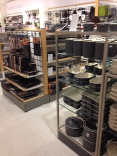 John Lewis - London - Homewares - Home - Cook & Dine - Cookshop - Lifestyle - Visual Merchandising - Layout - Landscape - www.clearretailgroup.eu John Lewis Home, Kitchen Essentials List, Visual Merchandising, Shoe Rack, Layout, Shelves, Dining, Store, Showroom